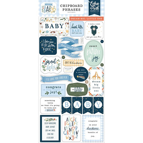 Welcome Baby Boy - Chipboard