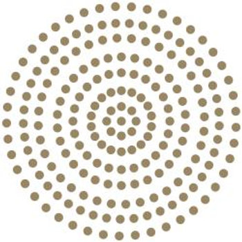 Couture Creations Adhesive Pearls Gold 206/Pkg