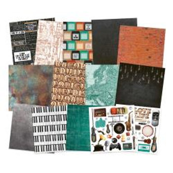 """copy of P13 Double-Sided Paper Pad 12""""X12"""" 12/Pkg Free Spirit"""