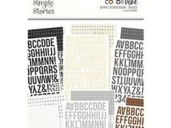 Simple Stories - Colour Vie - Alpha Sticker Book - Basics