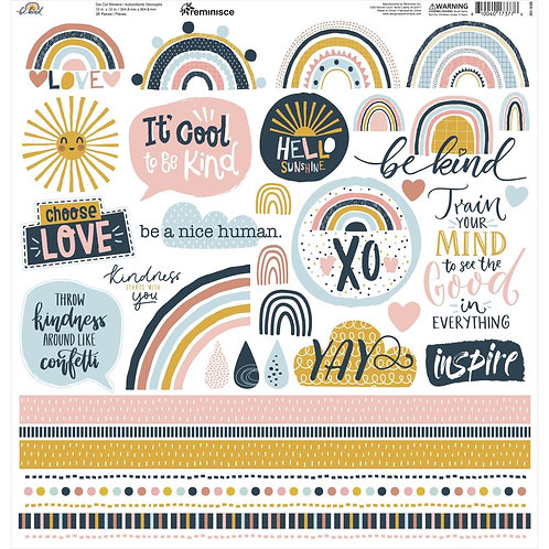 """Be Kind Cardstock Stickers 12""""X12"""""""