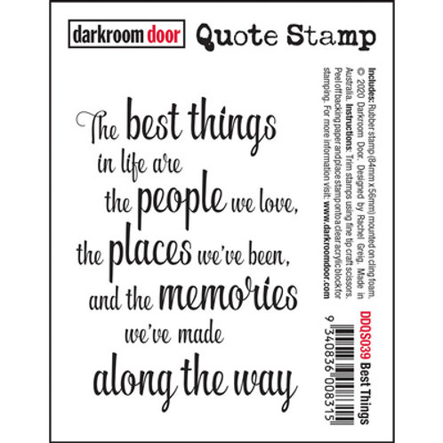Darkroom Door - Best Things Stamp