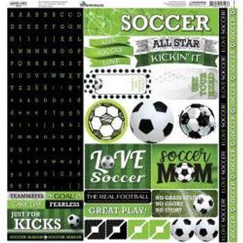 "Reminisce Alpha Cardstock Stickers 12""X12"""