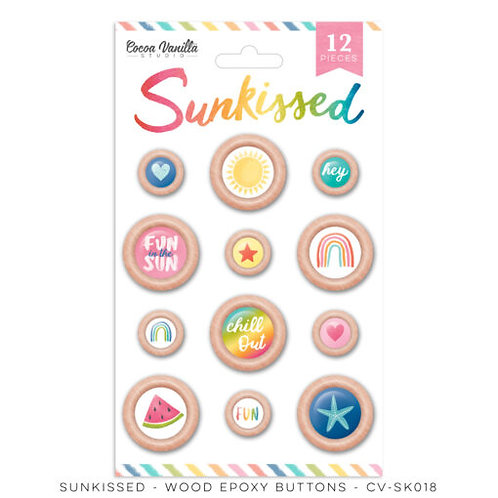 Cocoa Vanilla Studios - Sunkissed - Wood Buttons
