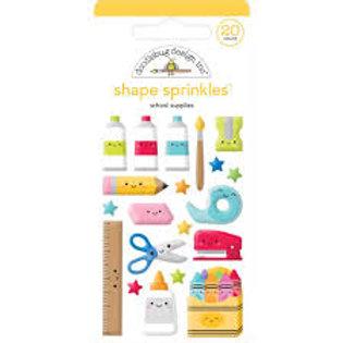 Doodlebug Design - Shape Sprinkles - School Supplies