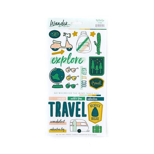 Wander 6x12 Sticker Sheet