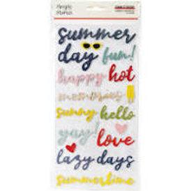 Simple Stories - Summer Farmhouse Foam Stickers