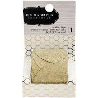 Large Gold Glitter Scallop Tape