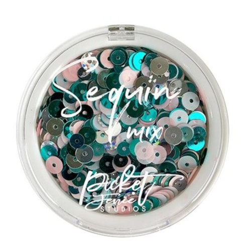 Picket Fence Sequin Mix Nut Cracker