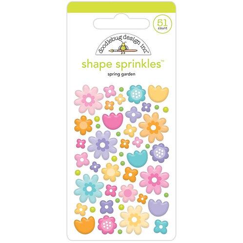 Doodlebug Sprinkles Adhesive Enamel Shapes -Spring Garden