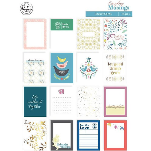 PinkFresh - Everyday Musings - Pocket Cards