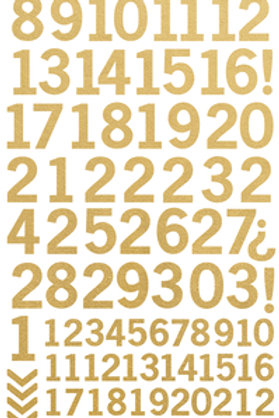 Number Stickers - Gold