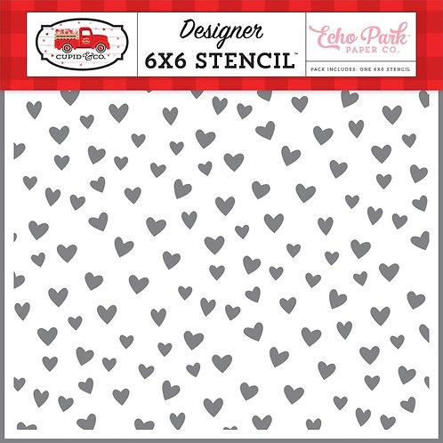 "Echo Park Stencil 6""X6 - Love You"