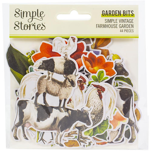 Simple Stories Simple Simple Vintage Farmhouse Garden Bits & Pieces Die-Cuts 44/