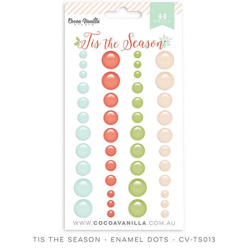 Cocoa Vanilla Enamel Dots - Tis the Season