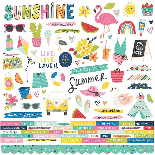"""Sunkissed Cardstock Stickers 12""""X12"""""""