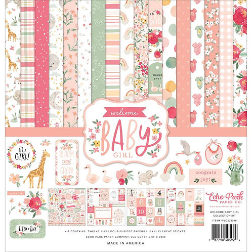 Welcome Baby Girl - Paper Kit