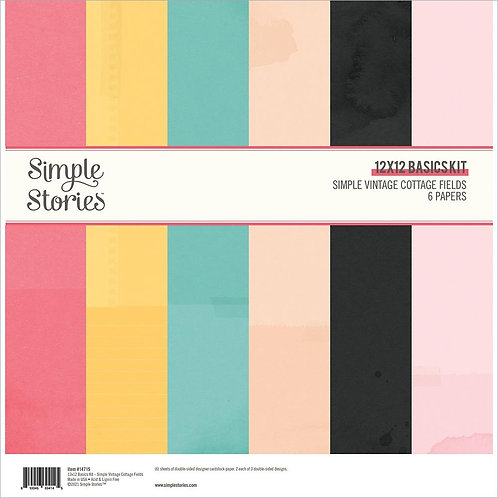 Simple Stories Simple Vintage Cottage Fields Double-Sided Paper Pack 6/Pkg