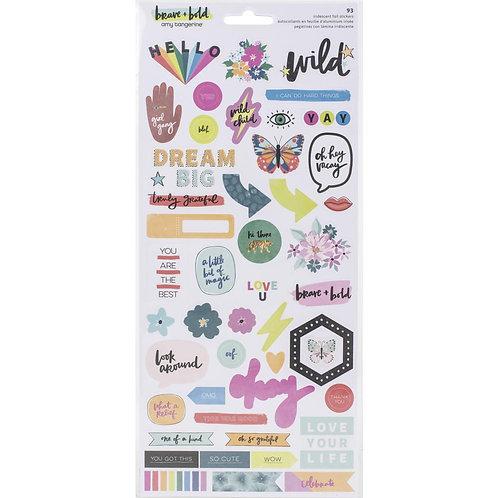 Amy Tan Brave & Bold Cardstock Stickers 93/Pkg