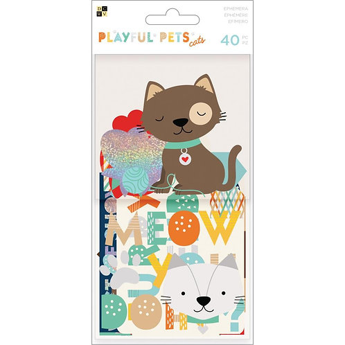DCWV - Playful Pets Ephemera - Cats
