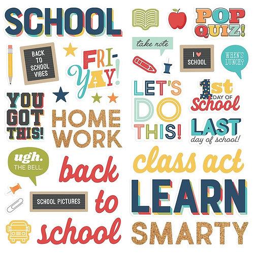 Simple Stories - School Life Foam Stickers 45/Pkg