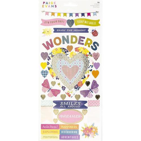 "Paige Evans Wonders Cardstock Stickers 6""X12"" 74/Pkg"