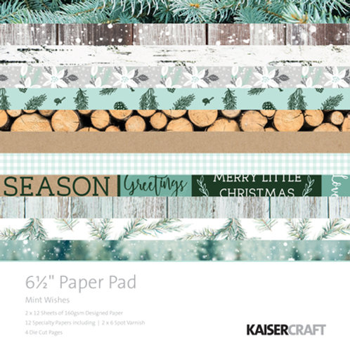 Kaisercraft Mint Wishes - 6.5x6.5 paper pad