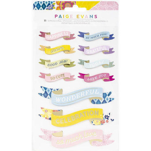 Paige Evans Wonders Dimensional Stickers 11/Pkg