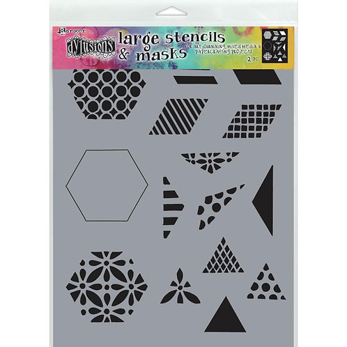 """Dyan Reaveley's Dylusions Stencils 9""""X12"""" - 1.5 Quilt"""