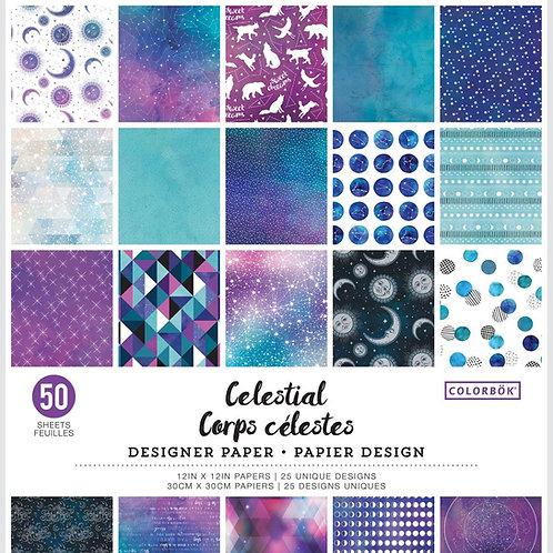 "Colorbok Designer Paper 12""X12"" Celestial Pad"