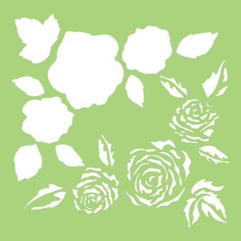 6x6 Designer Template - Full Roses