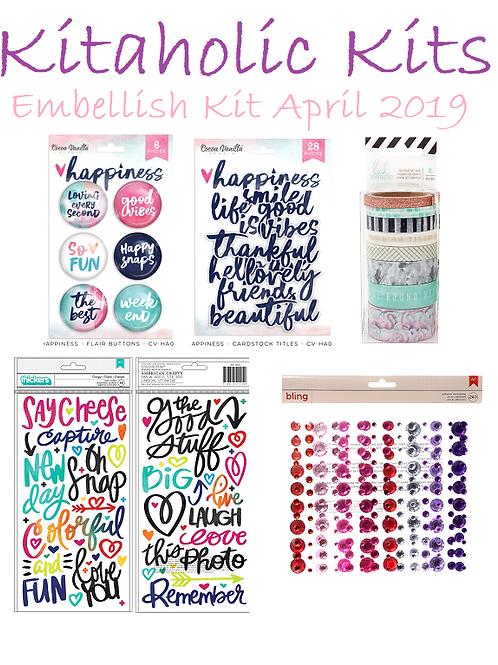 Kitaholic Kits - April 2019 Embellish Kit