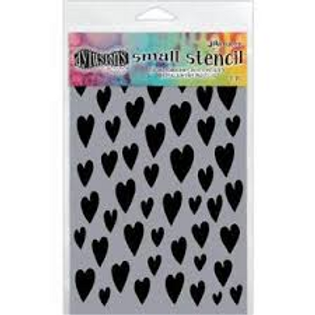Dylusions Small Stencil - Hearts