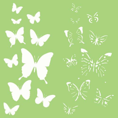 6x6 Designer Template - Butterflies