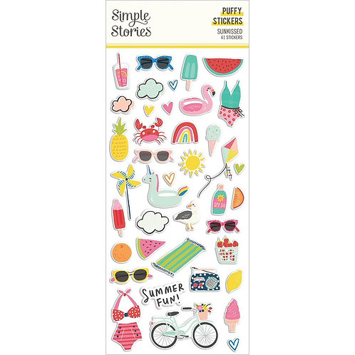 Simple Stories Sunkissed Puffy Stickers 41/Pkg