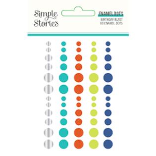 Simple Stories - Birthday Blast Enamel Dots