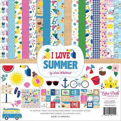 """Echo Park Collection Kit 12""""X12"""" I Love Summer"""