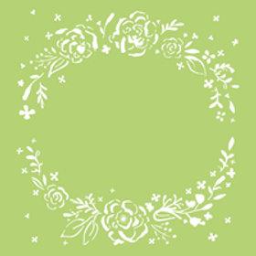 6x6 Designer Template - Floral Werath