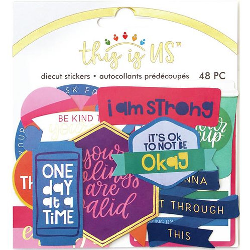 This Is Us Diecut Stickers 48/Pkg - Bright Selfcare