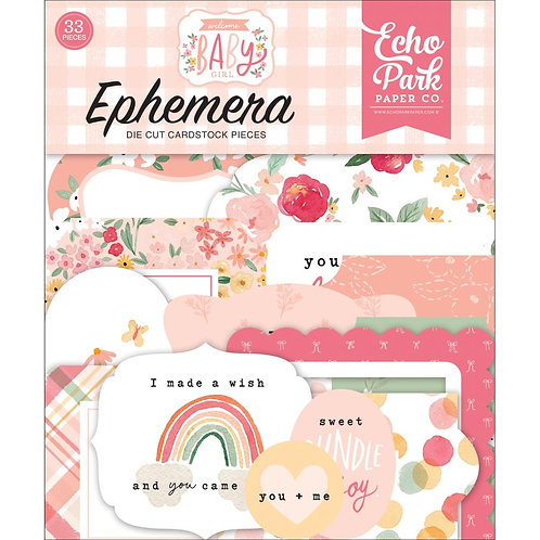 Welcome Baby Girl  - Die Cuts