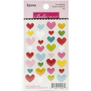 Bella Blvd Epoxy Stickers Hearts Christmas Mix