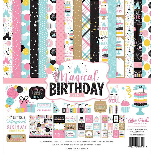 """Echo Park Collection Kit 12""""X12"""" - Magical Birthday Girl"""