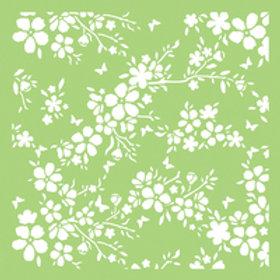 6x6 Designer Stencil Bloom