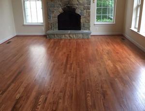 Red oak hardwood Gunstock stain