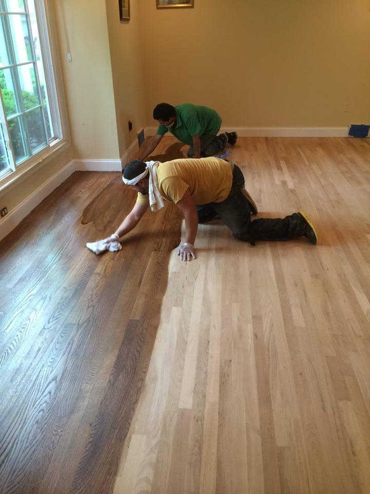 White oak floor duraseal stain spice brown