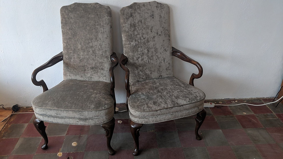 Queen Anne Arm Chairs (set of 2)
