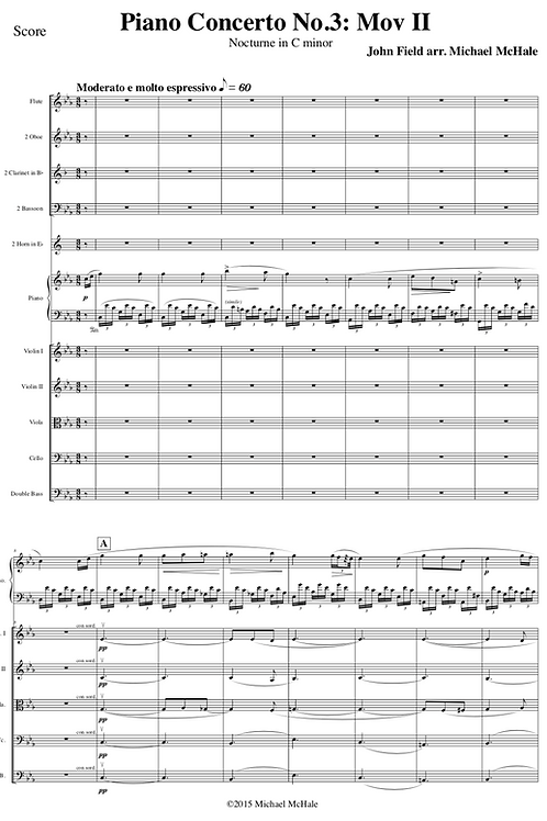 Field Concerto No.3 Mov II: Nocturne in C minor