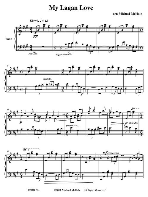 My Lagan Love - solo piano