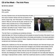 The Irish Piano CD Reviews