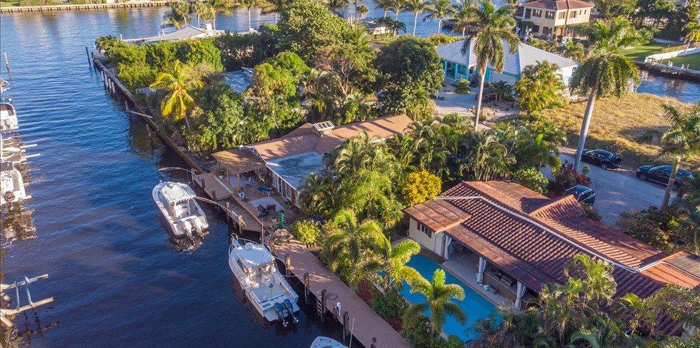 Ariel View of 100 Foot Private Dock and